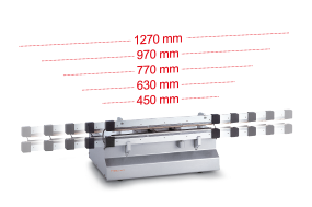 hv 460 to hv 1300 available in five bar widths.